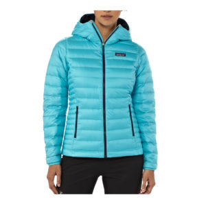 Patagonia - Hoody femme Down Sweater turquoise manequin front