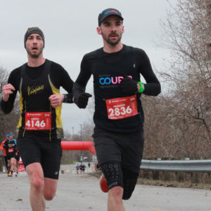 François Hamelin lors du 21K Scotia, en avril 2019. Photo: F. Hamelin